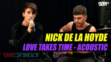 "Nick de la Hoyde ""Love Takes Time"" Live Acoustic"
